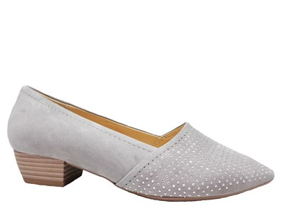 Gabor 'Azalea' Pale Grey Low Heel Shoe