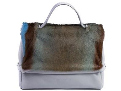 Sherene Melinda Baby Blue Stripe Tote Bag