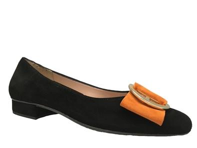 HB 'June' In Black & Orange Suede