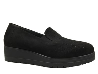 Lisa Kay 'Bridie' Black Suede Slip-on