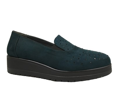 Lisa Kay 'Bridie' Green Suede Slip-on