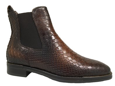 Lisa Kay 'Sadie' Brown Moc-Croc Chelsea Boot