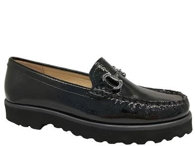 Lisa Kay 'Clarke' Black Patent Loafer