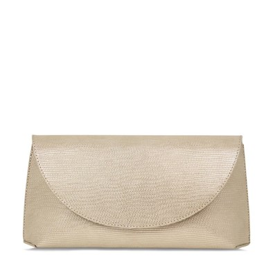 Lisa Kay Cosmo Champagne Foldover Clutch Bag