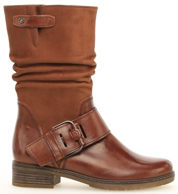 Gabor 'Diane' Tan Leather Mid Calf Boot
