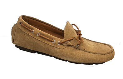 Barker Moccasin 'Doug' in a Sand suede