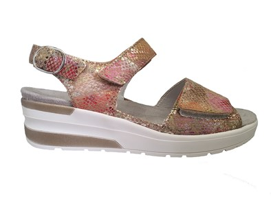 Waldlaufer 'Claudia' Pretty Velcro Sandal In Summer Beige
