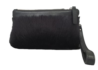 Sherene Melinda Double Zip Clutch Bag