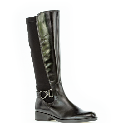 Gabor 'Abia' Black Boot With Buckle Detail