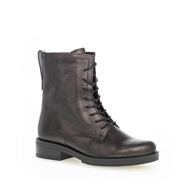 Gabor 'Hay' Biker Leather Boot in Black Bronze