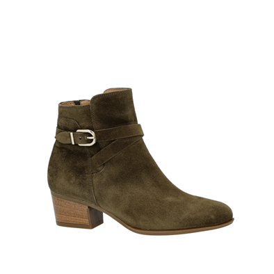 Gabor 'Rotor' Suede Ankle Boot In Olive