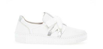 Finn by Gabor White Slip On with lace detail
