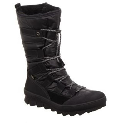 Legero Novara Black Quilted Gortex Lace Boot