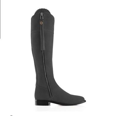 Fairfax and Favor Regina Flat Boot In Grey