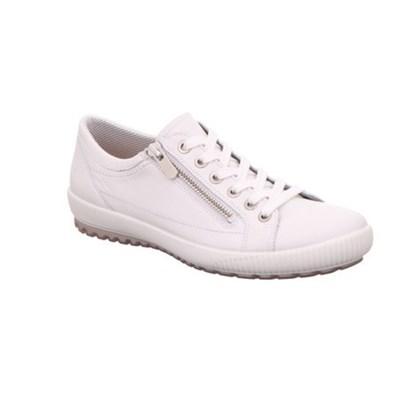Legero 'Tanaro' White Lace Up Leather Trainer
