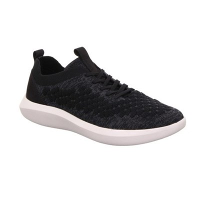 Legero 'Impact' Black Knitted Trainer