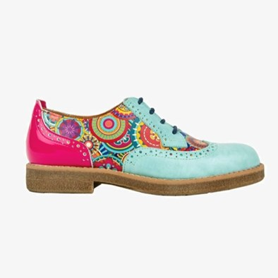 The Artist In Light Blue &  Bright Floral By The Shoe Embassy