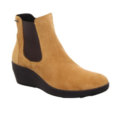 Legero Divine Yellow Suede Wedge Ankle Boot