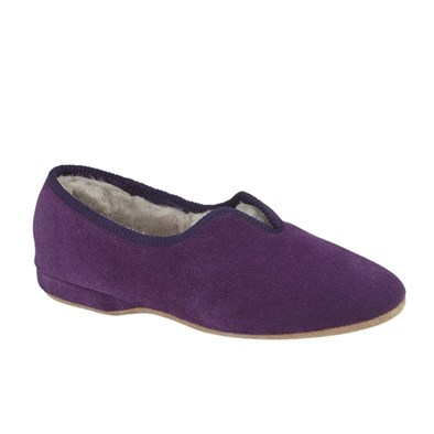 Draper Belinda full Sheepskin Slipper in Senate
