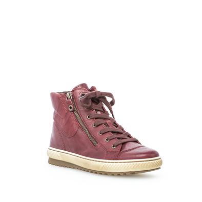 'Bulner' Dark Red High Top Boot