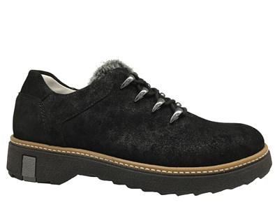 Waldlaufer Black Shimmer Lace Up Shoe