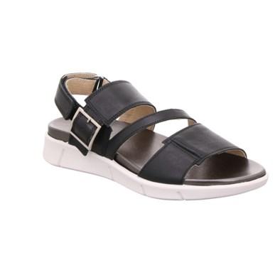 Legero 'Fano' Black Leather Sandal
