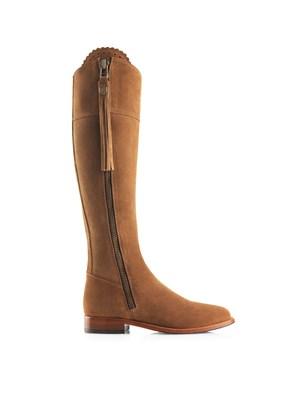 Fairfax & Favor Flat Regina Boot In Tan