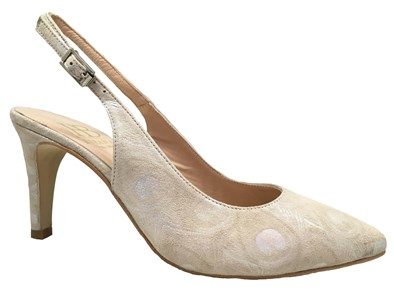 HB Petunia Champagne High Heel Slingback
