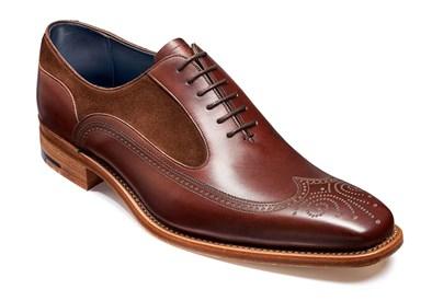 Barker Harding Oxford In Walnut Leather