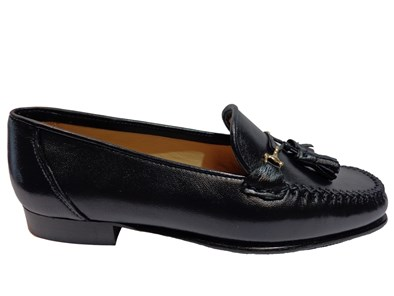 HB Navy Moccasin With Gold Trim & Tassel