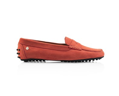Fairfax & Favor Hemsby Coral Suede Loafer