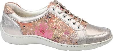 Waldlaufer 'Henni' Lace Up Shoe in Light Gold/Beige