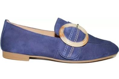 Gabor 'Viola' Blue Suede Moccasin