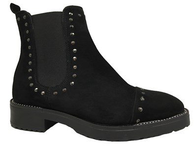 Lisa Kay 'Kara' Black Suede Stud Boot
