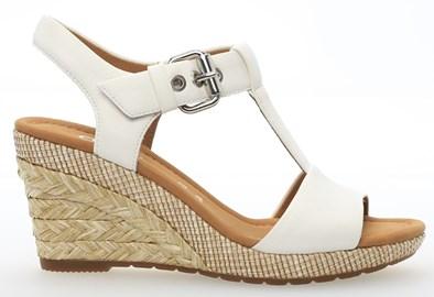 Gabor 'Karen' White Wedge Sandal