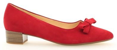 Gabor 'Kerry' Red Suede Low Heel Shoe
