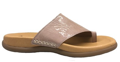 Gabor 'Lanzarote' Light Pink Patent Toe-Post Sandal