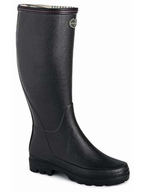 Le Chameau Ladies Giverny Wellington In Black