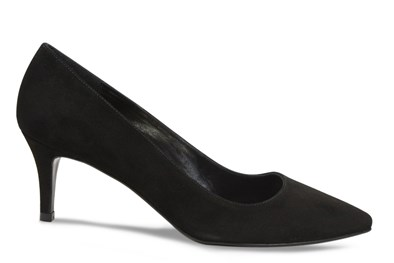 Lisa Kay Jacqui Black Suede Court Shoe