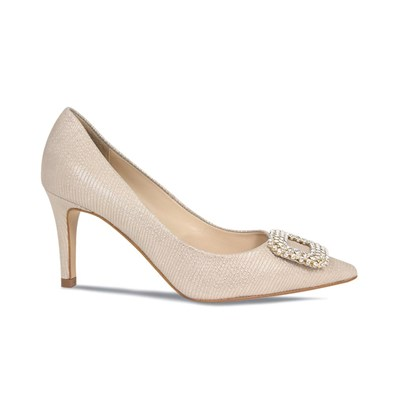 Lisa Kay Cecilia Champagne & Bronze Evening Shoe