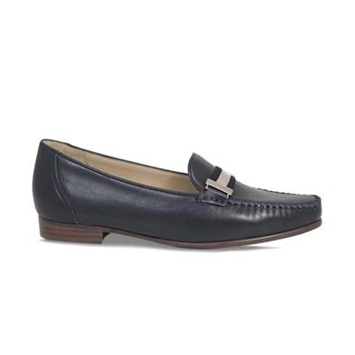 Lisa Kay Sprint Navy & Beige Loafer