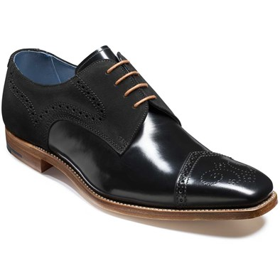 Barker Luca Black Leather Derby