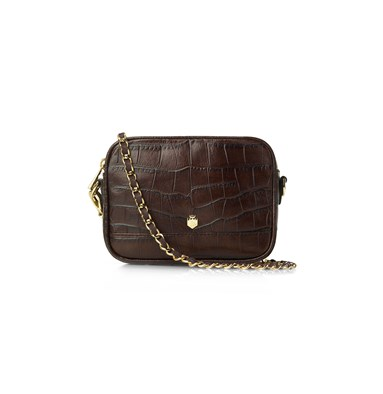 Fairfax & Favor Madison Cross-Body In Brown Croc Print