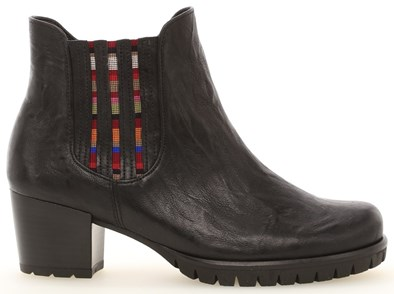 Gabor 'Mermaid' Navy Leather Ankle Boot