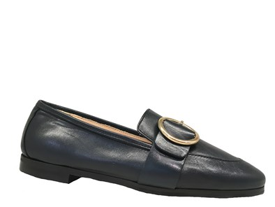 HB Navy Loafer With Buckle Detail