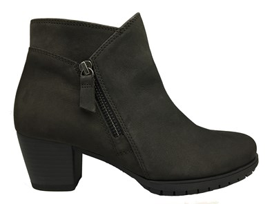 Gabor 'Olivetti' Grey Nubuck Ankle Boot