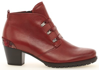 Gabor 'Olsen' Red Leather Ankle Boot