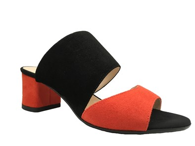 HB Black & Orange Strappy Sandal