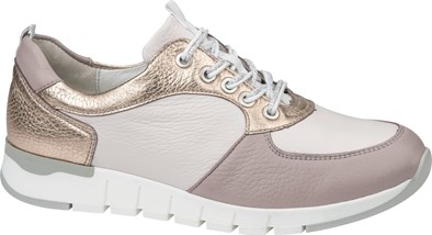 Waldlaufer ' Petra' Lace Up Trainer In Rose