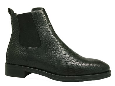Lisa Kay 'Sadie' Dark Green Moc-Croc Boot